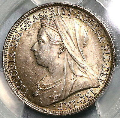 1901 PCGS MS 62 Silver Florin Victoria Last Year GREAT BRITAIN Coin (16121501D)