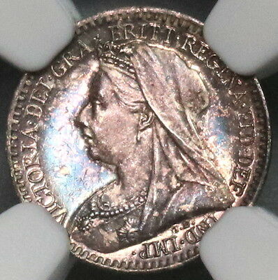 1901 NGC MS 64 Maundy Penny Victoria Last Year GREAT BRITAIN Coin (16122102C)