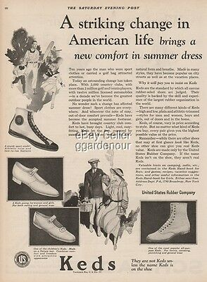 1923 US Keds Canvas Boy's Sport Girls Pump Ladies Tennis Shoes Style/Fashion Ad