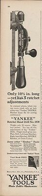1923 Yankee Ratchet Hand Drill No 1530 North Bros Philadelphia Vintage Tool Ad