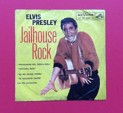 Elvis Presley-Another Very Very Hard To Find Ep From Chile-Jailhouse Rock