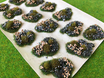 Low Stone Dales Tuft Dioramas - Model Scenery Static Grass Wargame Railway Base