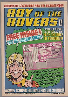 ROY OF THE ROVERS Comic-1976 25/9/76 Ipswich Mick Mills Poster First Issue No 1