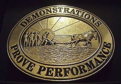 John Deere Co Kansas City Demonstration Award 1989 Belt Buckle  Ltd Ed 320  plow