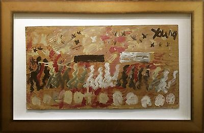 """Purvis Young """"funeral Procession""""   Original Mixed Media/wood   Make An Offer"""