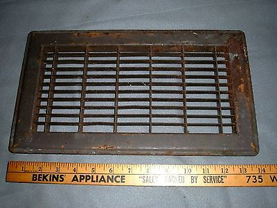 vtg heat grate vent pressed steel /  floor / wall grate