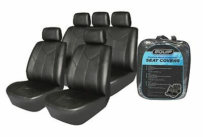 Equip ELS002 Premium Leatherette Seat Cover Full Set - Universal Leather Look