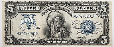 1899 $5 Silver Certificate Chief Very Fine Condition Bold Print - N67478281