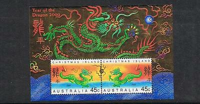 STAMPS AUSTRALIA  CHRISTMAS ISLAND  2000 YEAR OF THE DRAGON Ms.  (MNH) xx