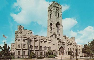 Vintage POSTCARD c1960s Scottish Rite Cathedral INDIANAPOLIS, IN 13725