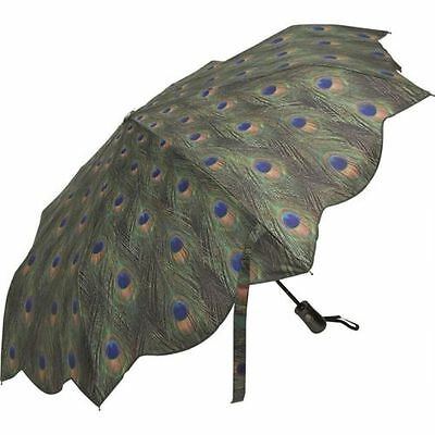 New Galleria Peacock Green Blue Super-Mini Umbrella Auto Open Close