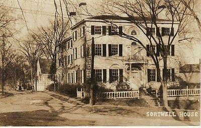 Antique REAL PHOTO POSTCARD c1924-49 Sortwell House WISCASSET, ME MAINE RPPC
