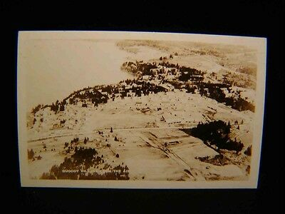 Antique Photo POSTCARD Quioddy Village from the Air