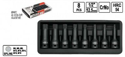 power impact wrenches nuts 8 pcs socket set Multi-tooth Stars Spline