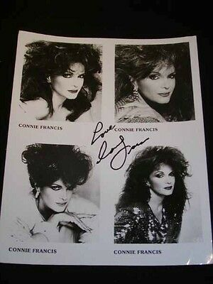 CONNIE RANCIS Autographed Photograph, 4-Photos on 8x10 Glossy, w/ Signature