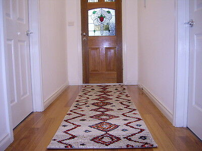 Hallway Runner Hall Runner Rug 3 Metres Long Multi Colored Red FREE DELIVERY