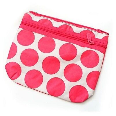 New Thirty One Mini Purse pouch 31 gift bag in Coral Mod Dot NO strap ee