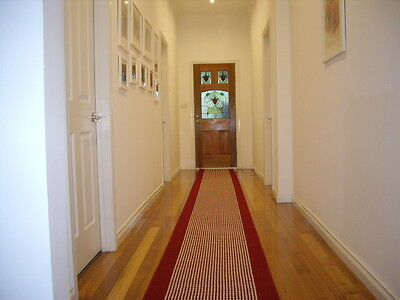 Hallway Runner Hall Runner Rug Modern Burgundy Red 5 Metres Long FREE DELIVERY