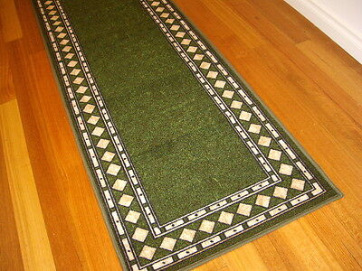 Hallway Runner Hall Runner Rug Modern Green 5 Metres Long FREE DELIVERY 16645