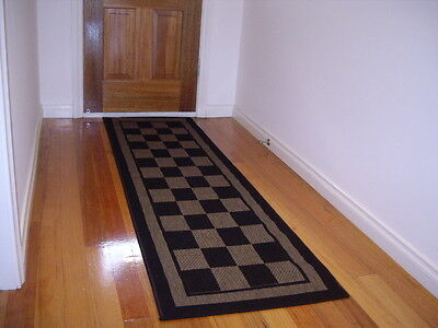 Hallway Runner Hall Runner Rug Modern Designer Black Brown FREE DELIVERY