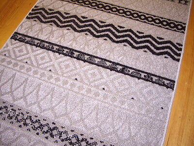 Hallway Runner Hall Runner Rug 3 Metres Long Modern Black Grey FREE DELIVERY