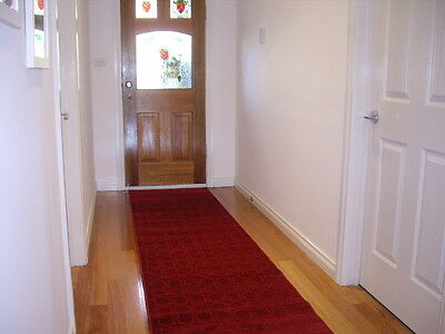Hallway Runner Hall Runner Rug 3 Metres Long Modern Red FREE DELIVERY