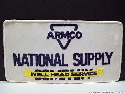 """Armco National Supply Well Head Service Big Patch Gas Oil Drilling 9 1/2"""" Vtg"""