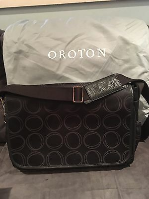 BNWT Oroton Large O Satchel Diaper Nappy Baby Bag Wet Pack Mat Etc RRP$445