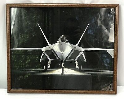 US Air Force F-22 Raptor Framed Print With Signatures