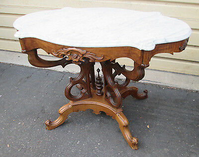 57750 Antique Victorian Marble top Table Stand
