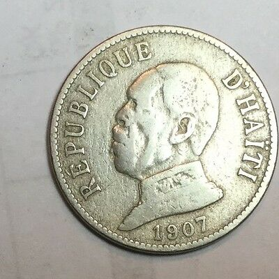 Haiti 1907 20 Centime coin nice condition