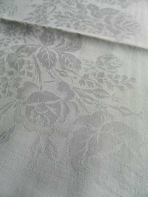 "Set antique large Gentlemen's Irish linen damask napkins - 26"" - Roses"