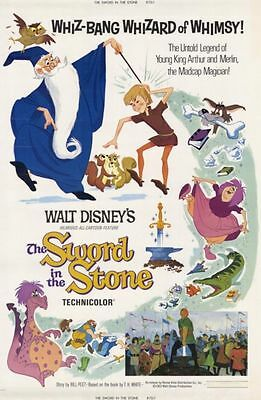 Sword in the Stone 35mm Film Cell strip very Rare var_w