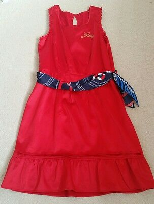 Girls Red Guess Party Dress Age 12yrs