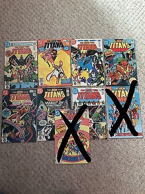 The New Teen Titans Comics 1, 3,4,5,6,7,8