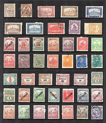 HUNGARY  Stamp Collection MINT USED Early Issues REF:QG31a