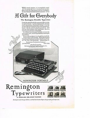 REMINGTON TYPEWRITERS 'A Gift for Everybody' 1926 Ad