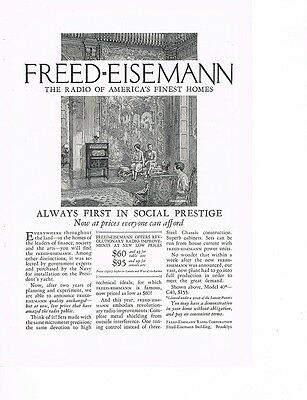 FREED-EISEMANN The Radio of Finest Homes 1926 Ad