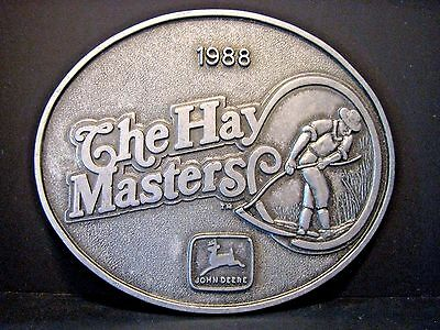 RARE! John Deere COLUMBUS The Hay Master EMPLOYEE Belt Buckle 1988 Ltd Ed 30/700