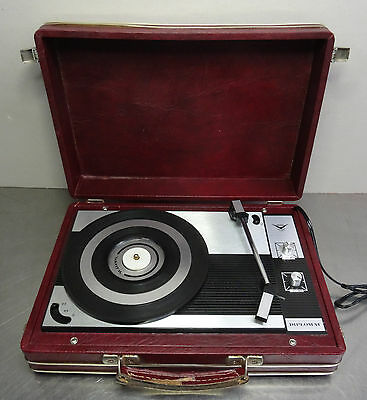 Vintage Party Turntable Plattenspieler Wilson Milano Kofferplattenspieler ~ 60er