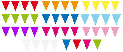 Mini Flag Party Bunting Choice Of Many Colours 15 Flags 3M Party Decoration
