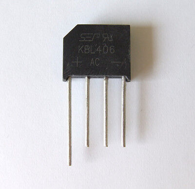 KBL406 Diode Bridge Rectifier 4A 800V (Pack Sizes Available)