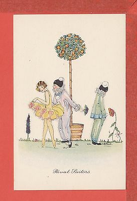 RIE CRAMER Rival Suitors, Art Deco Image with Christmas thoughts pb: B.A.C. p/un