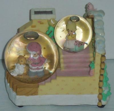 Enesco PRECIOUS MOMENTS Musical Waterball Christmas Snowglobe Jingle Bells NIB