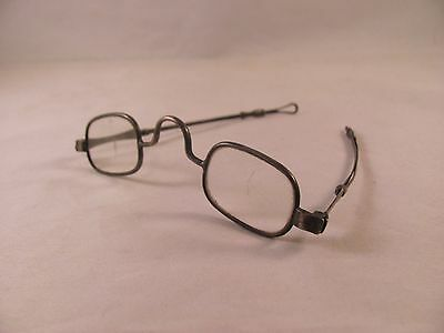 RARE Antique 19thC .900 Coin Silver Eyeglasses Spectacles Borhek Philadelphia PA
