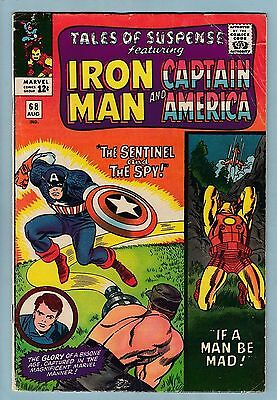 TALES OF SUSPENSE #'s 68, 69 & 70 VG  CAPT. AMERICA_IRON MAN_CENTS_60% OFF GUIDE