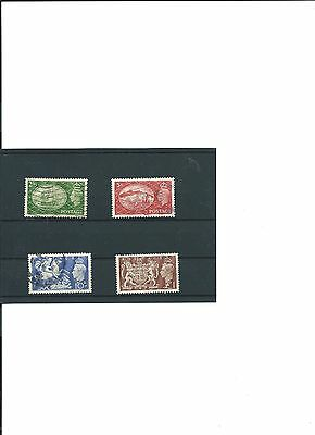 Gb Used Set Stamps High Value King George V1