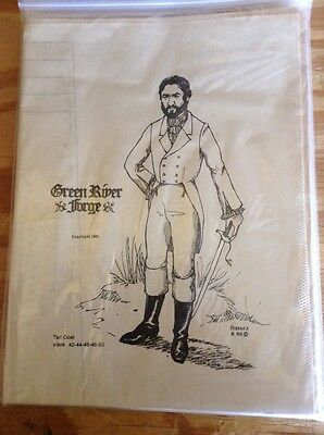 New Green River Forge Mens Tall Coat Sewing Pattern Historical Events Rendezvous