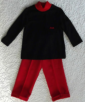 Vintage trouser suit UNUSED 1960s Age 2 Courtelle LADYBIRD children boy girl