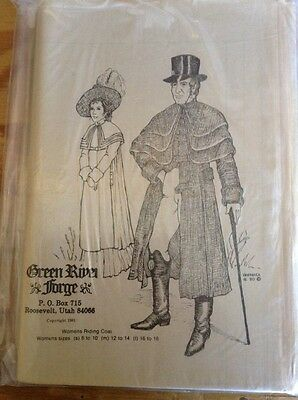 NOS Victorian Womans Riding Coat Sewing Pattern Historical Event
